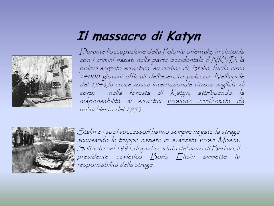Il massacro di Katyn Durante loccupazione della Polonia orientale, in sintonia con i crimini nazisti nella parte occidentale il NKVD, la polizia segre