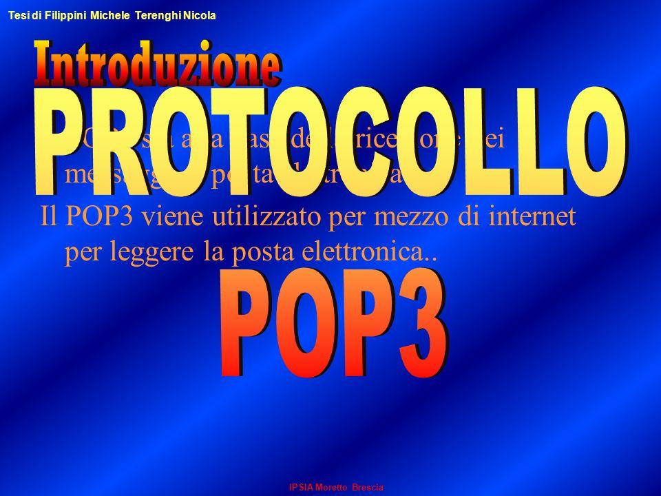 Il POP3 sta alla base della ricezione dei messaggi di posta elettronica. Il POP3 viene utilizzato per mezzo di internet per leggere la posta elettroni