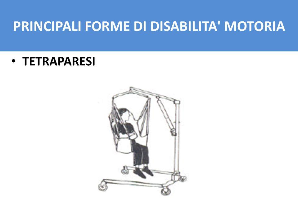 TETRAPARESI PRINCIPALI FORME DI DISABILITA' MOTORIA