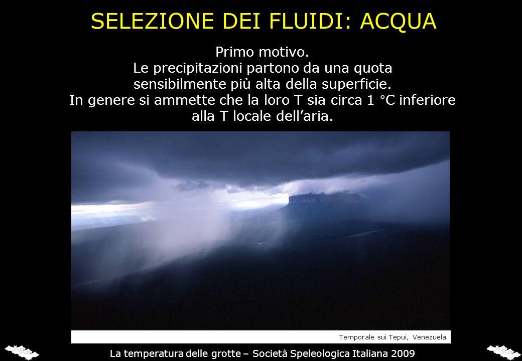 Primo motivo. Le precipitazioni partono da una quota sensibilmente più alta della superficie. In genere si ammette che la loro T sia circa 1 °C inferi