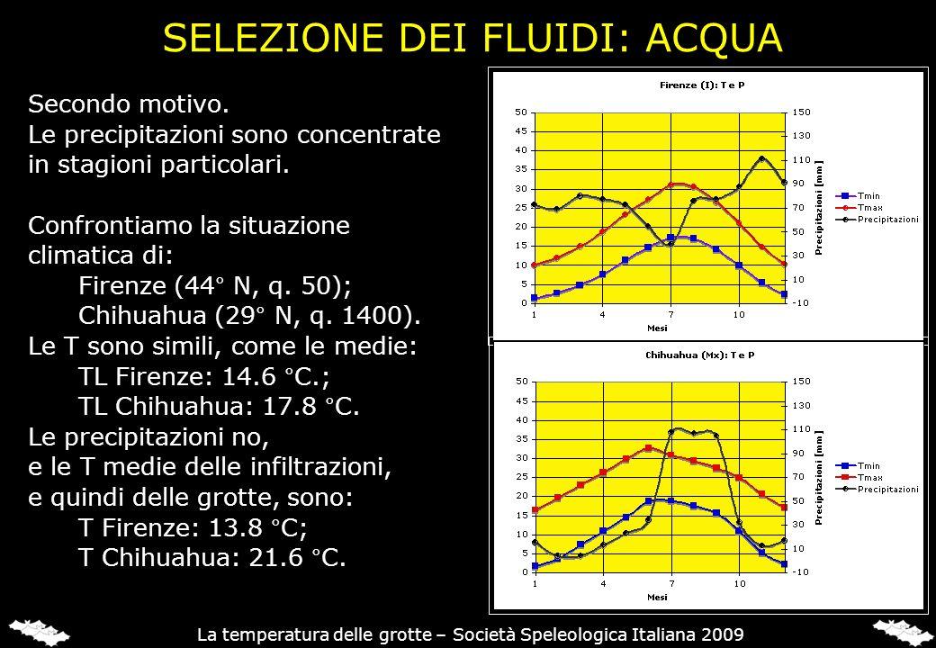 Secondo motivo. Le precipitazioni sono concentrate in stagioni particolari. Confrontiamo la situazione climatica di: Firenze (44° N, q. 50); Chihuahua