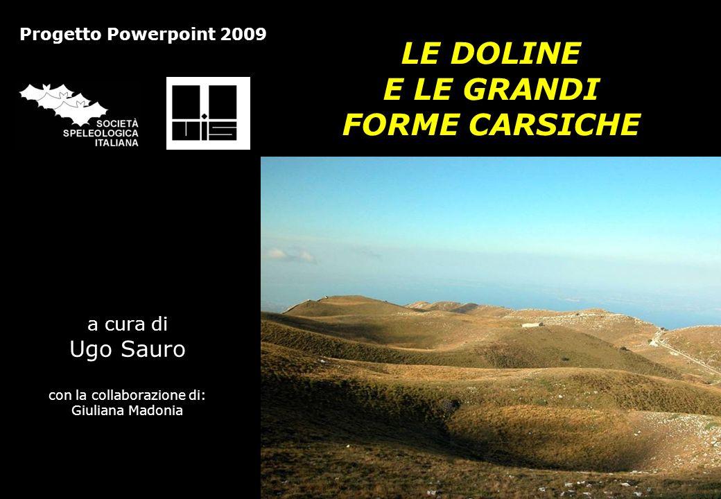 I MODELLI GENETICI (GRAFICA) Le doline e le grandi forme carsiche – Società Speleologica Italiana 2009