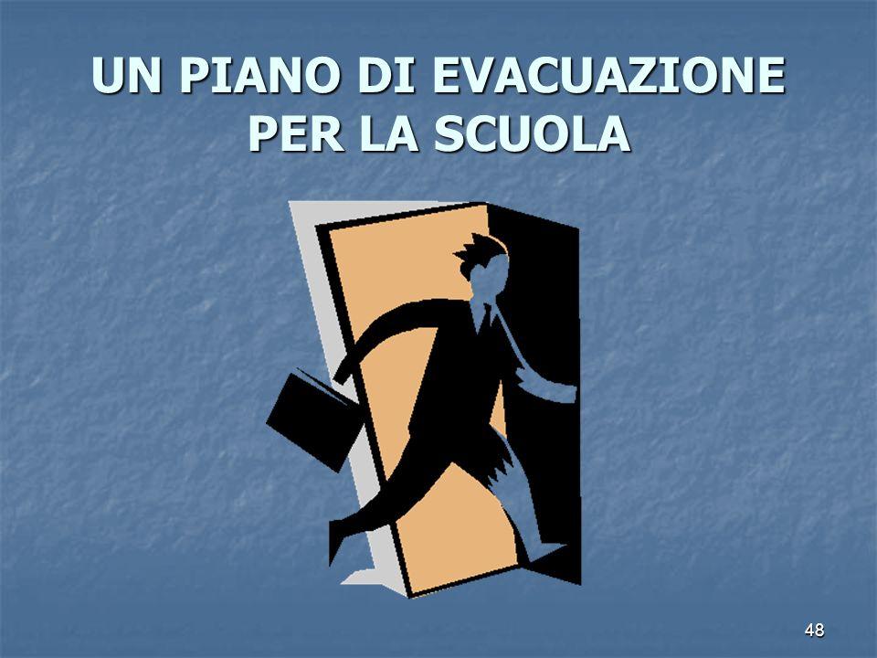 48 UN PIANO DI EVACUAZIONE PER LA SCUOLA