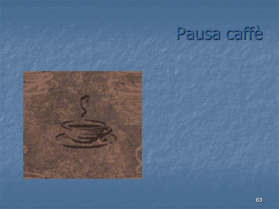 63 Pausa caffè