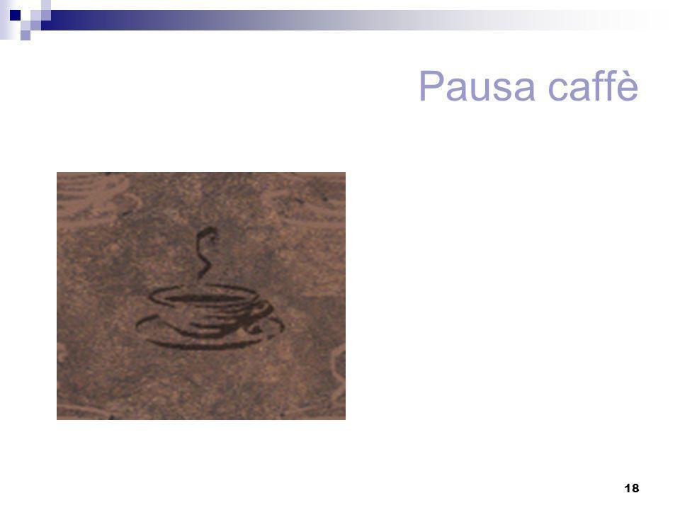 18 Pausa caffè