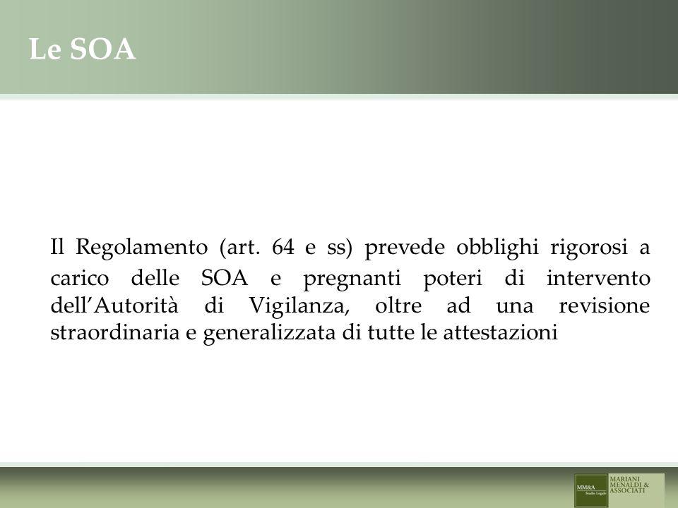 Le SOA Il Regolamento (art.