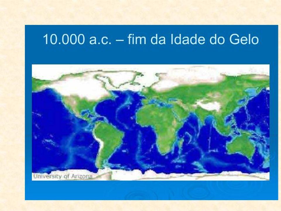 Il clima divenne a poco a poco più mite e il paesaggio terrestre si modificò, sia pur lentamente.