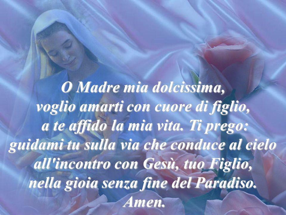Io ti amo Maria, perché tu sei la Madre di Dio, la Madre di Gesù, mio Salvatore. Io ti amo, perché tu sei la Madre di tutti gli uomini, la Madre dei S