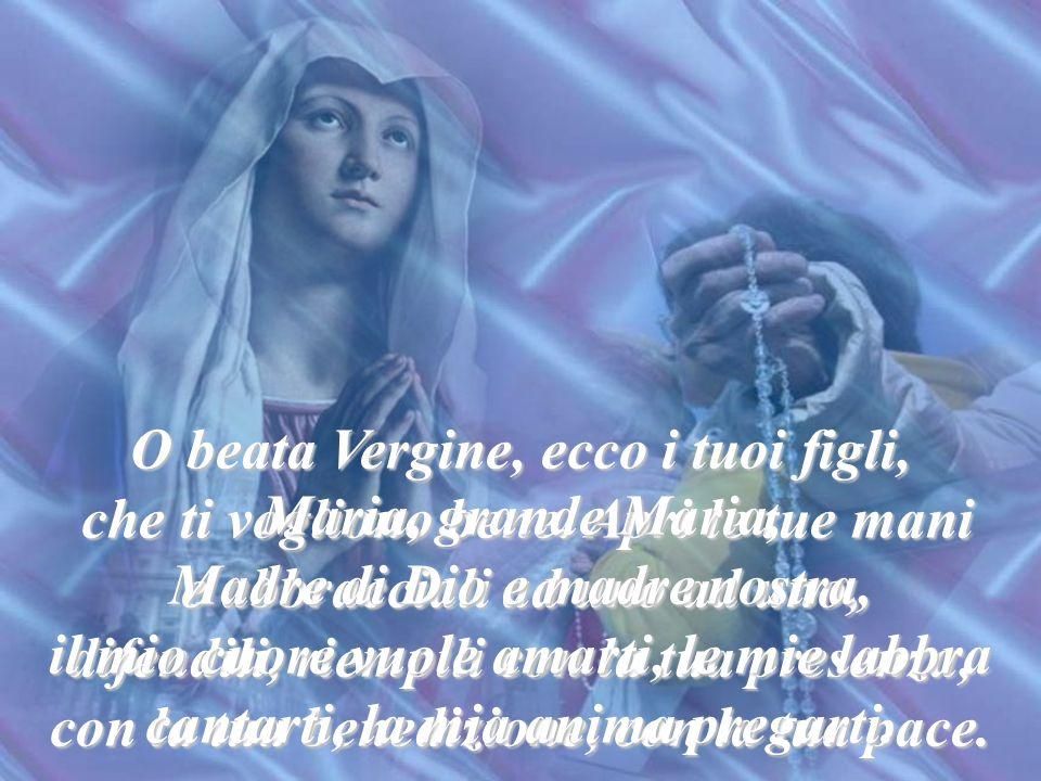 Ecco la tua Mamma; prendila! O beata fiducia e sicuro rifugio! La Madre di Dio è Madre nostra. La Madre di colui in cui speriamo, è Madre nostra. La M