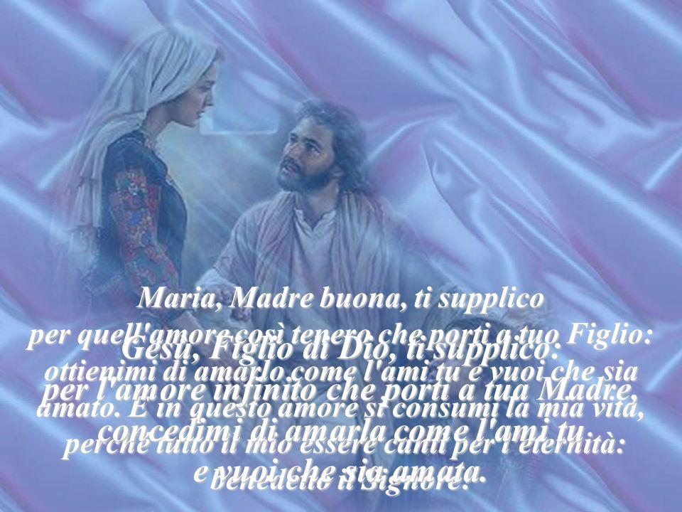 O beata Vergine, ecco i tuoi figli, che ti vogliono bene. Apri le tue mani che ti vogliono bene. Apri le tue mani e abbracciali ad uno ad uno, difendi