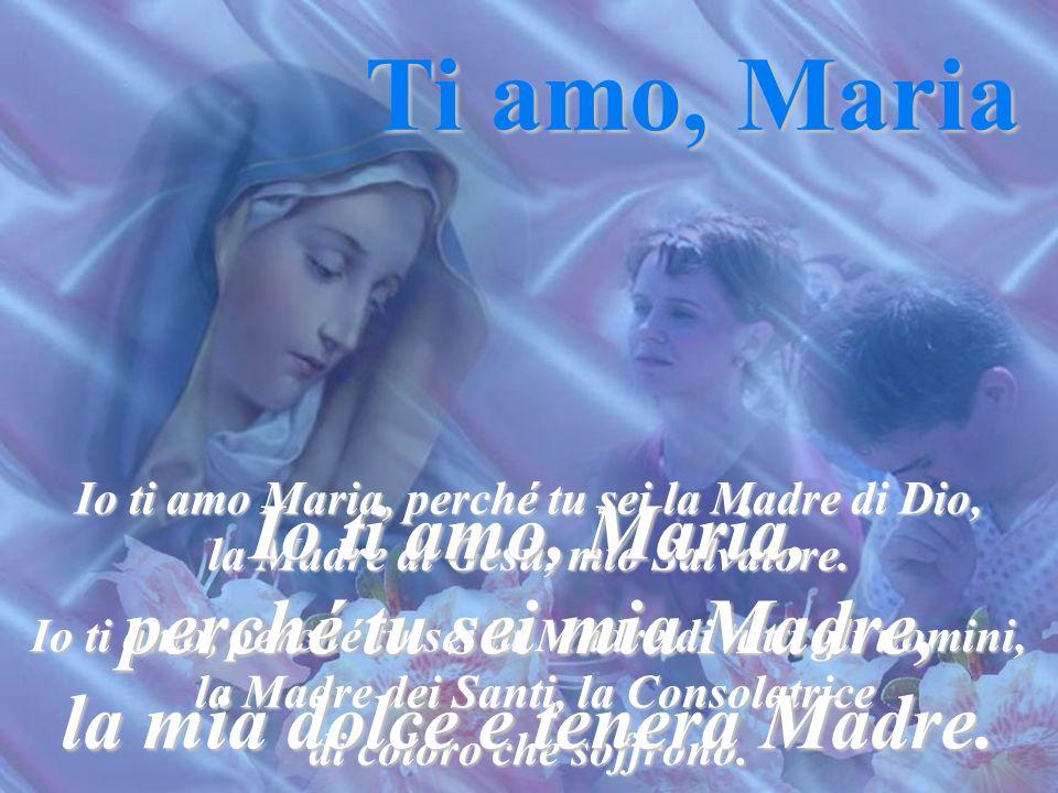 Maria, Madre buona, ti supplico per quell'amore così tenero che porti a tuo Figlio: ottienimi di amarlo come l'ami tu e vuoi che sia amato. E in quest