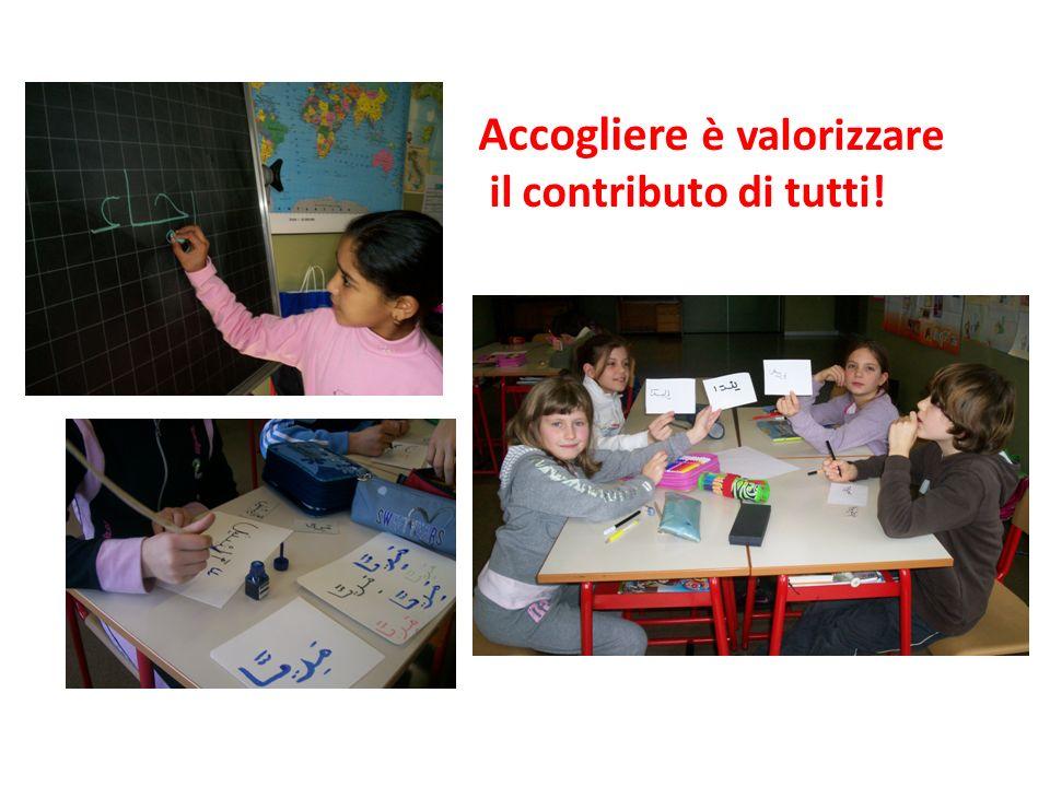 Accogliere è valorizzare il contributo di tutti!