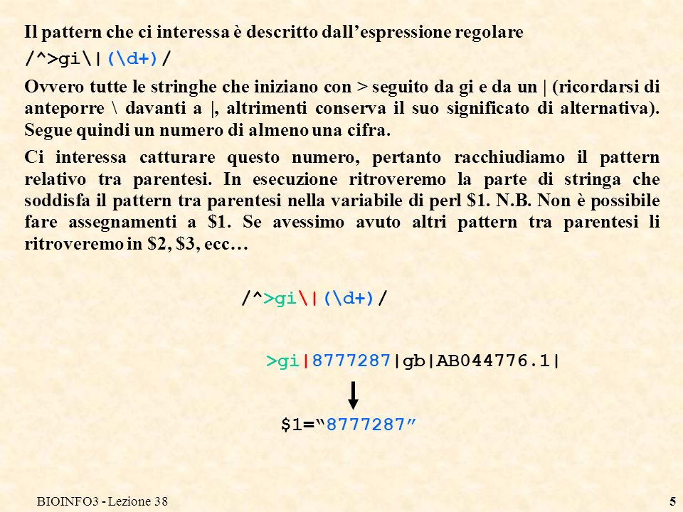 BIOINFO3 - Lezione 3826 1 %freq Marco 2 Luca