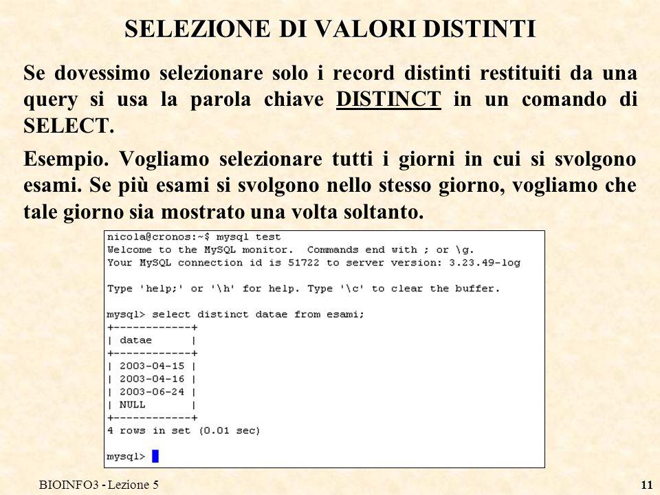 BIOINFO3 - Lezione 510