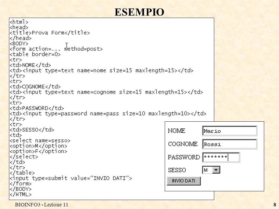 BIOINFO3 - Lezione 118 ESEMPIO