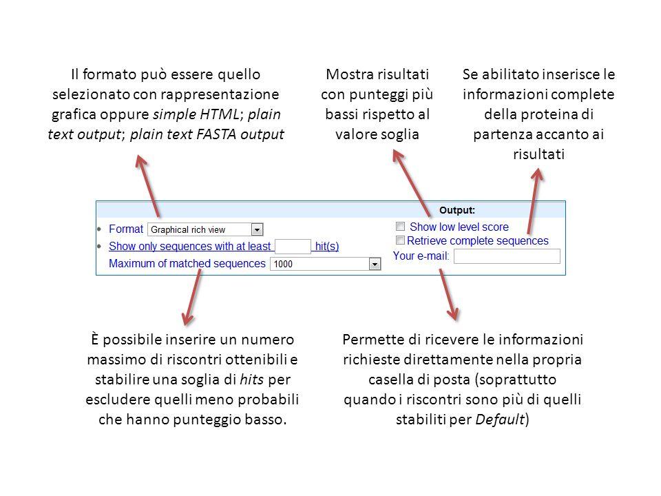 Se abilitato inserisce le informazioni complete della proteina di partenza accanto ai risultati Permette di ricevere le informazioni richieste diretta