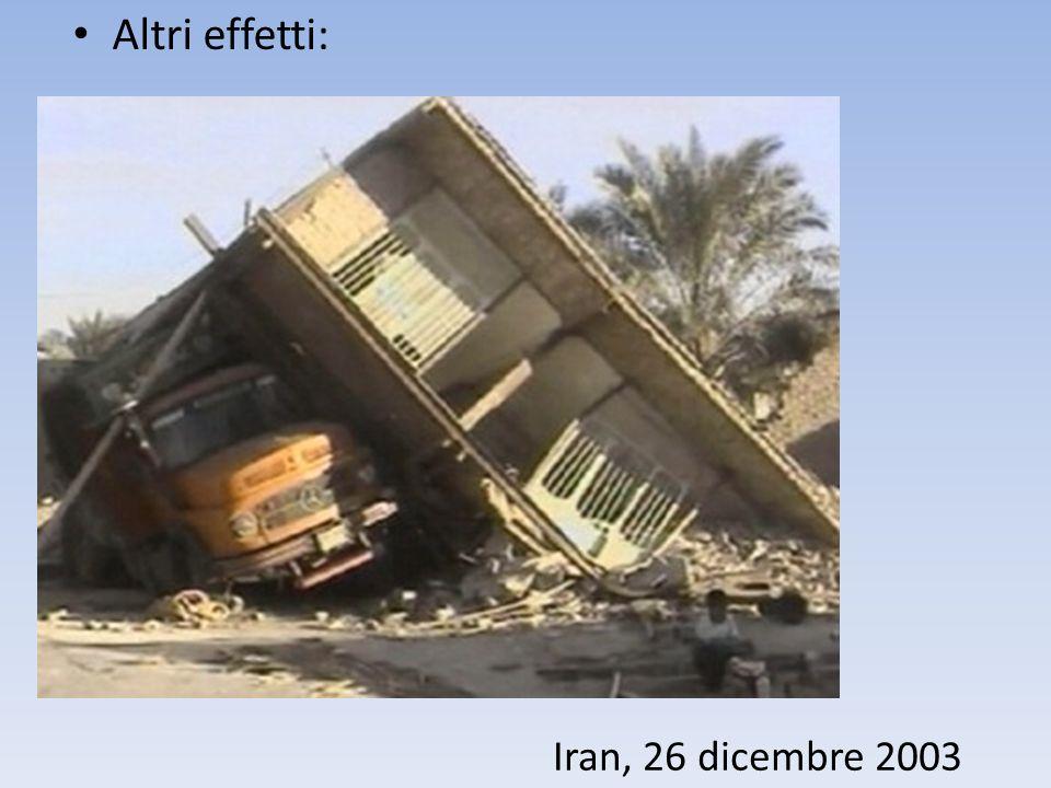 Altri effetti: Iran, 26 dicembre 2003
