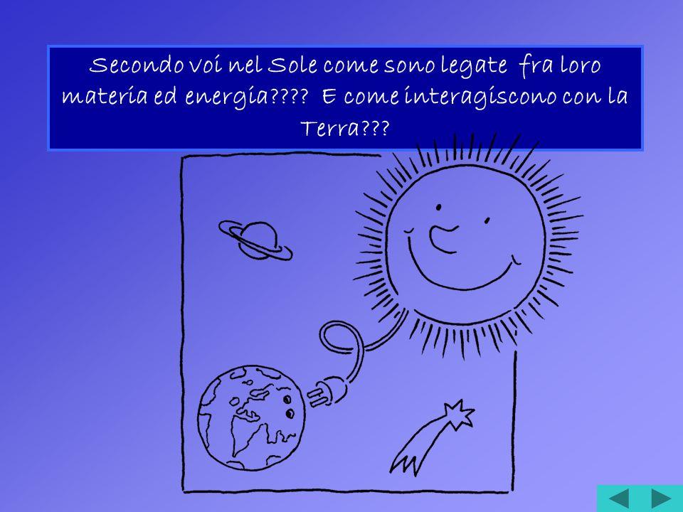 Secondo voi nel Sole come sono legate fra loro materia ed energia???.