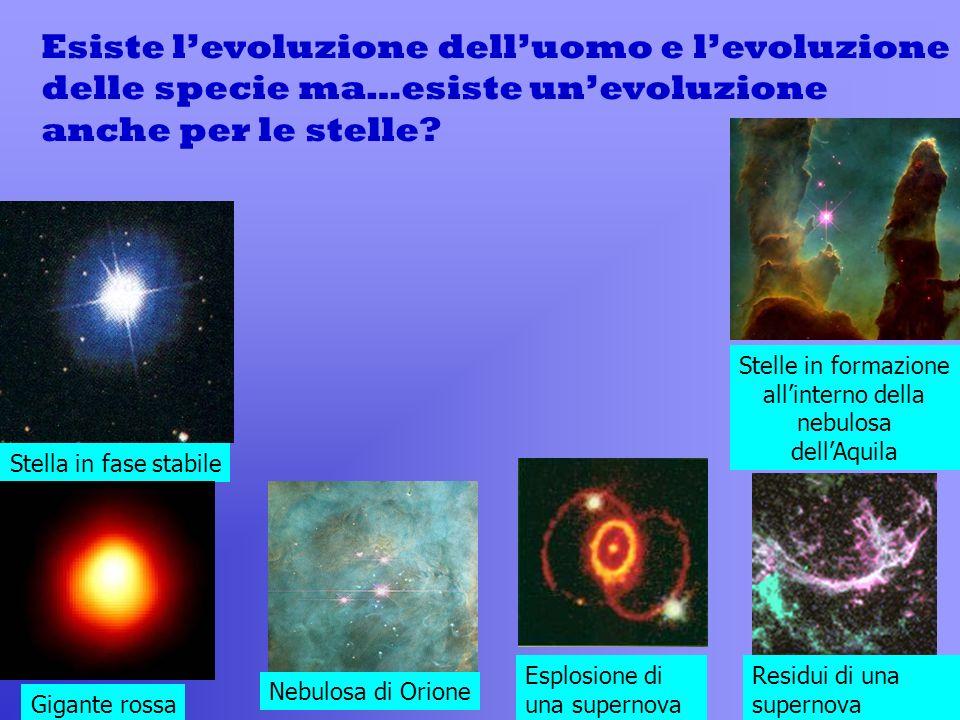 Esiste levoluzione delluomo e levoluzione delle specie ma…esiste unevoluzione anche per le stelle.