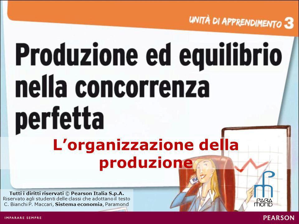 Lorganizzazione della produzione Tutti i diritti riservati © Pearson Italia S.p.A.