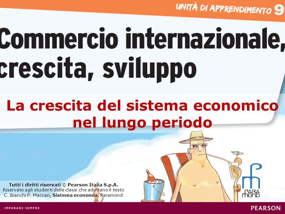 La crescita del sistema economico nel lungo periodo Tutti i diritti riservati © Pearson Italia S.p.A. Riservato agli studenti delle classi che adottan