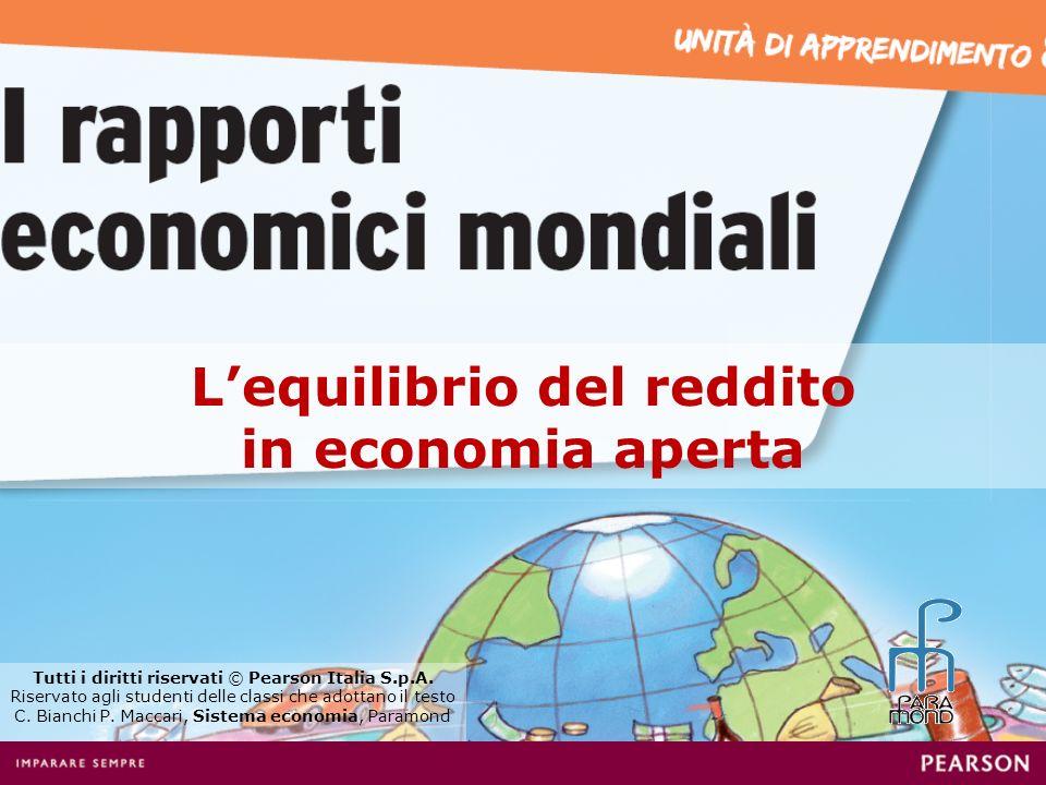 Lequilibrio del reddito in economia aperta Tutti i diritti riservati © Pearson Italia S.p.A. Riservato agli studenti delle classi che adottano il test