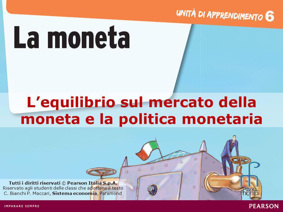 Lofferta di moneta è determinata da una decisione autonoma della Banca centrale.