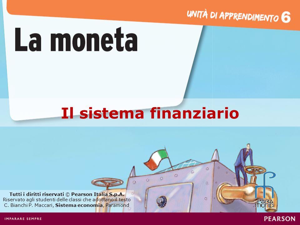 Il sistema finanziario Tutti i diritti riservati © Pearson Italia S.p.A. Riservato agli studenti delle classi che adottano il testo C. Bianchi P. Macc