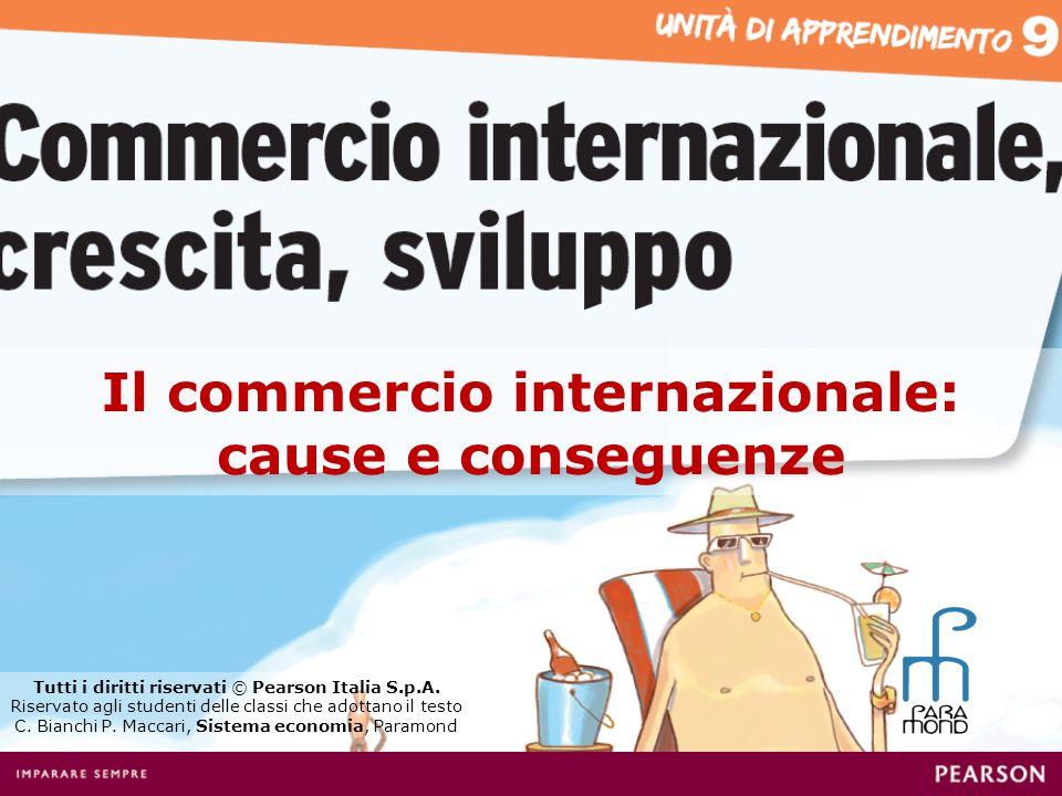 Il commercio internazionale: cause e conseguenze Tutti i diritti riservati © Pearson Italia S.p.A.