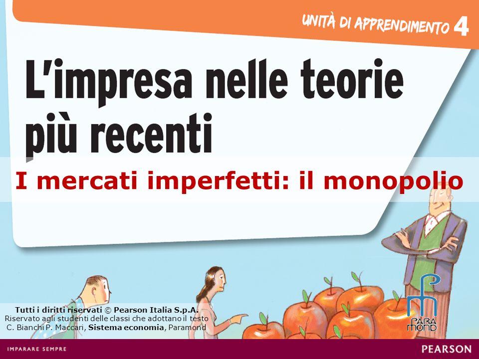I mercati imperfetti: il monopolio Tutti i diritti riservati © Pearson Italia S.p.A.