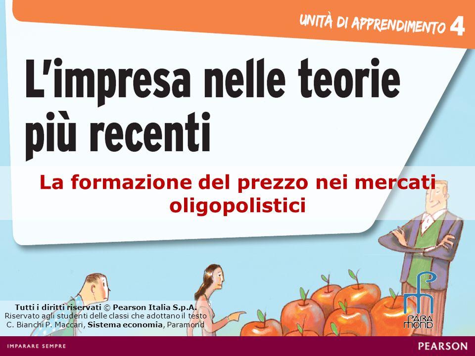 La formazione del prezzo nei mercati oligopolistici Tutti i diritti riservati © Pearson Italia S.p.A.