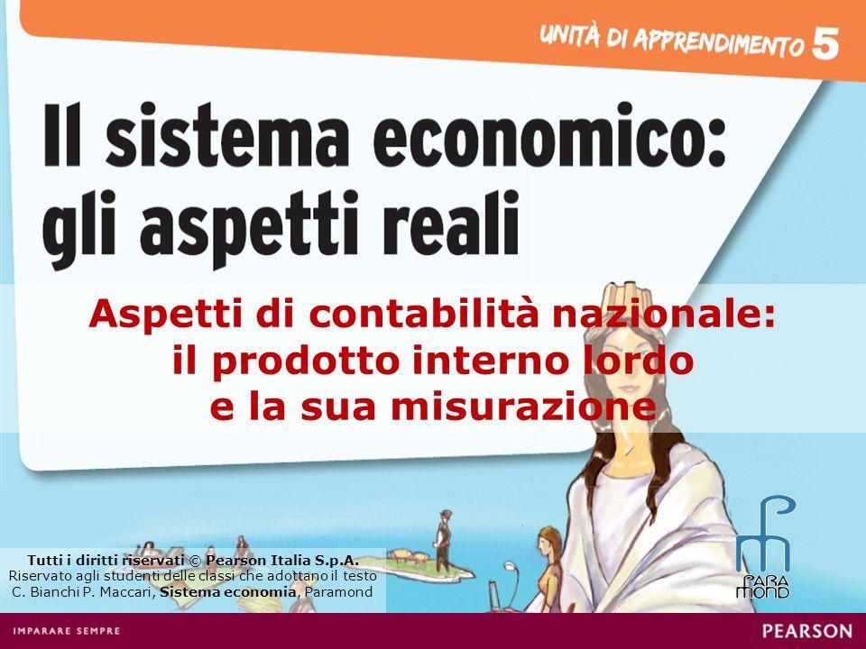 Aspetti di contabilità nazionale: il prodotto interno lordo e la sua misurazione Tutti i diritti riservati © Pearson Italia S.p.A. Riservato agli stud