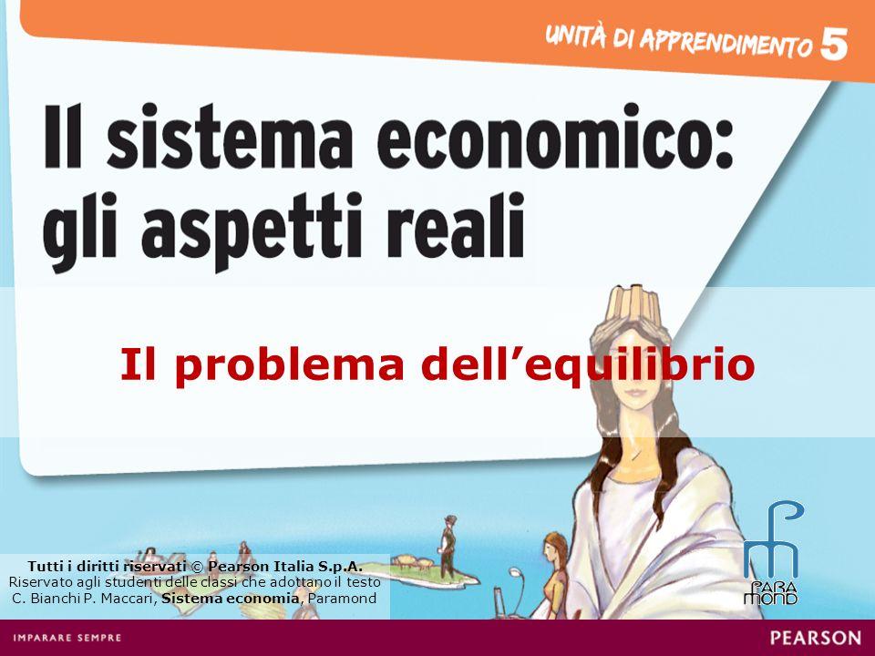 Il problema dellequilibrio Tutti i diritti riservati © Pearson Italia S.p.A. Riservato agli studenti delle classi che adottano il testo C. Bianchi P.