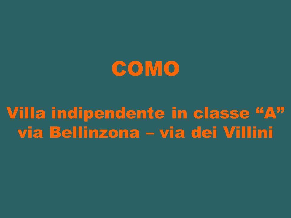 COMO Villa indipendente in classe A via Bellinzona – via dei Villini