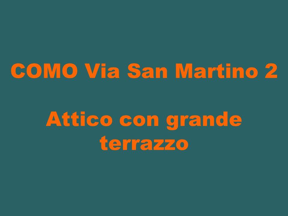 COMO Via San Martino 2 Attico con grande terrazzo