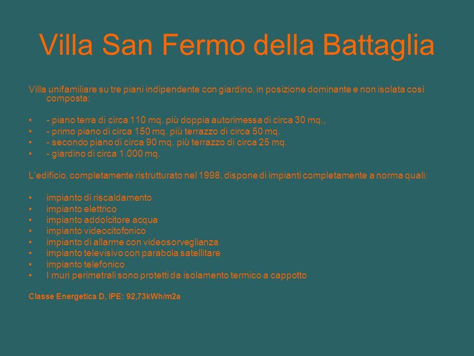 Villa San Fermo della Battaglia Villa unifamiliare su tre piani indipendente con giardino, in posizione dominante e non isolata così composta: - piano terra di circa 110 mq.