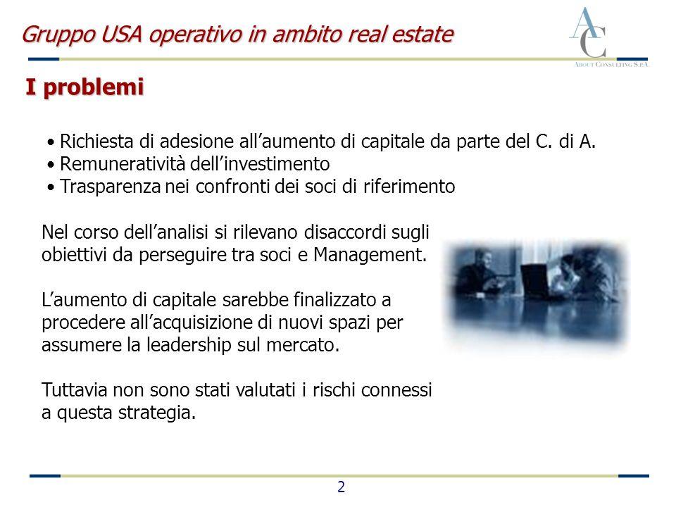 2 Richiesta di adesione allaumento di capitale da parte del C. di A. Remuneratività dellinvestimento Trasparenza nei confronti dei soci di riferimento