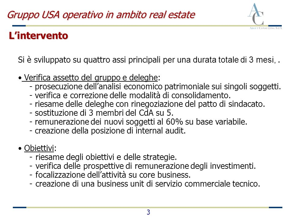 4 Fonti di finanziamento: - elaborazione di un business plan e business description.