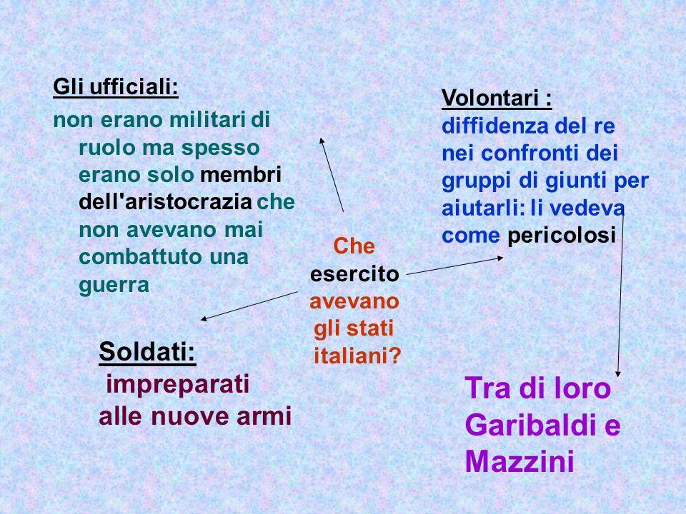 Che esercito avevano gli stati italiani? Gli ufficiali: non erano militari di ruolo ma spesso erano solo membri dell'aristocrazia che non avevano mai