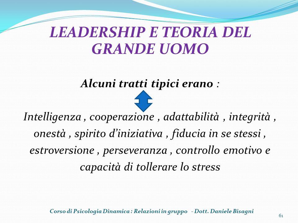 Alcuni tratti tipici erano : Intelligenza, cooperazione, adattabilità, integrità, onestà, spirito diniziativa, fiducia in se stessi, estroversione, pe