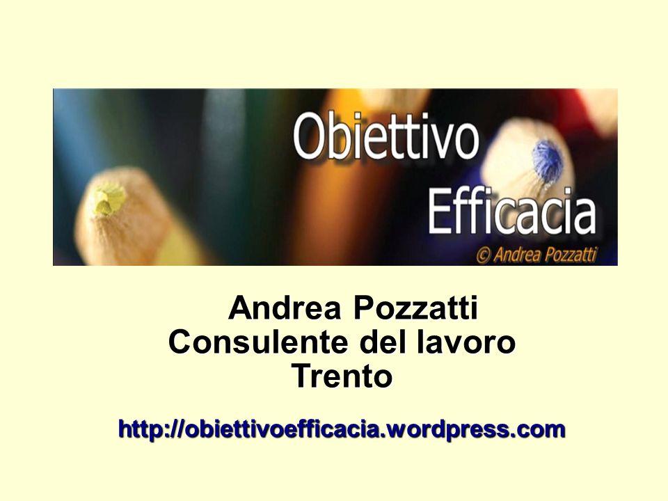 Andrea Pozzatti Consulente del lavoro Trentohttp://obiettivoefficacia.wordpress.com
