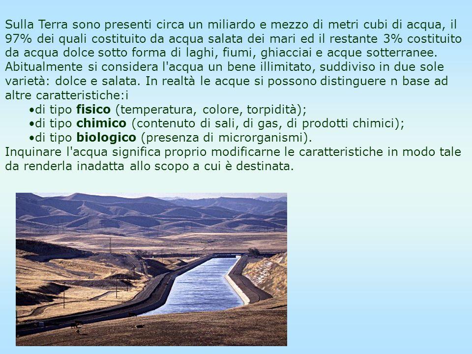 Alcune stime indicano che nei prossimi anni l acqua avrà un giro d affari del valore di centinaia di miliardi di euro.