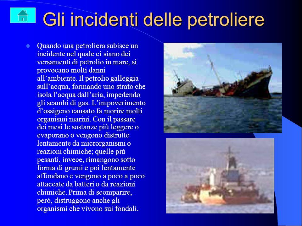 Inquinamento da petrolio La maggior parte dei mari del mondo è inquinata da petrolio. Questo proviene per la maggior parte da attività che si svolgono