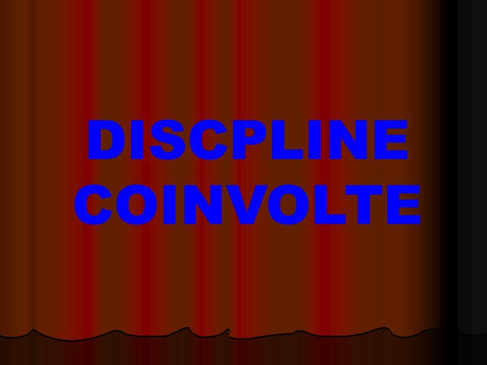 DISCPLINE COINVOLTE