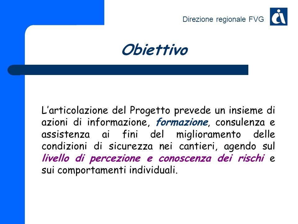 Direzione regionale FVG Obiettivo Larticolazione del Progetto prevede un insieme di azioni di informazione, formazione, consulenza e assistenza ai fin