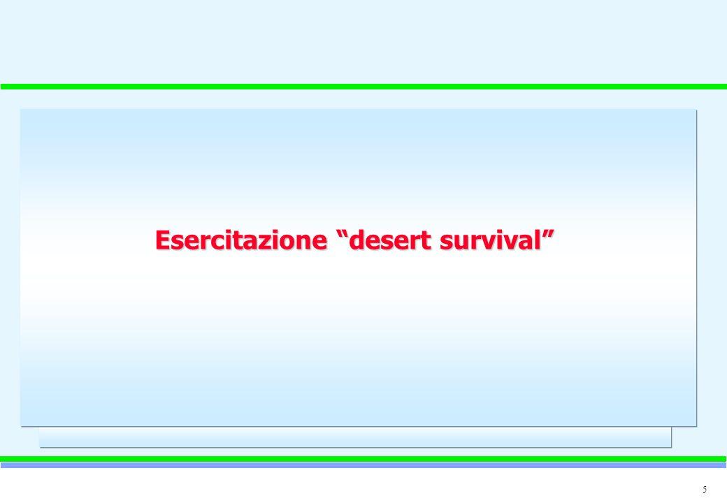 5 Esercitazione desert survival