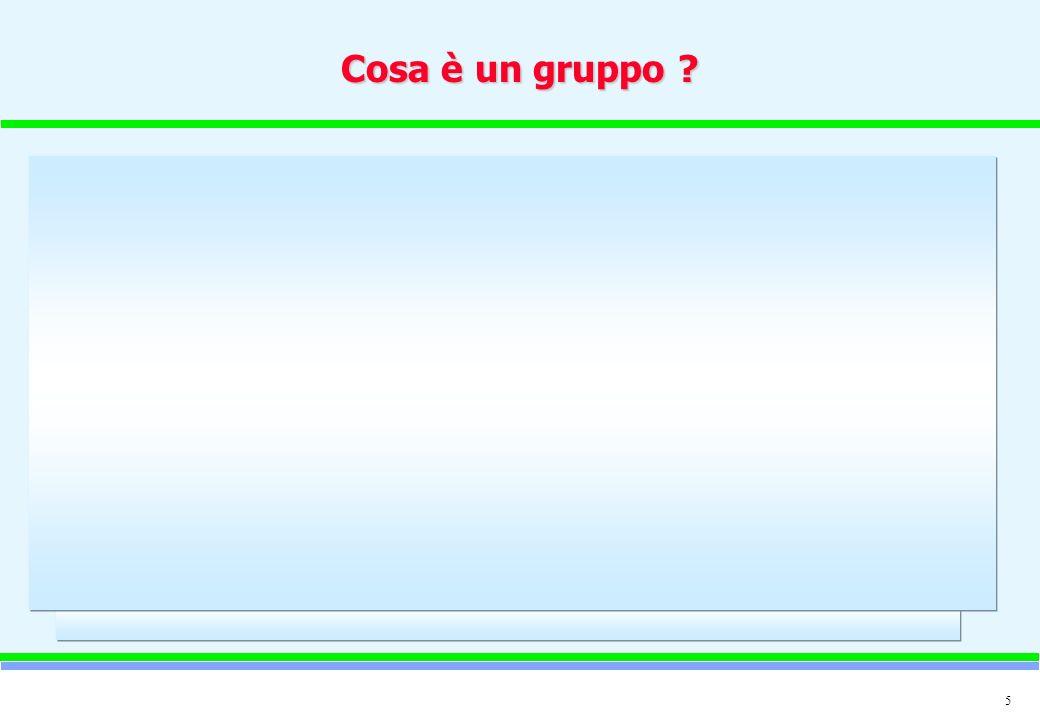 5 Cosa è un gruppo ?
