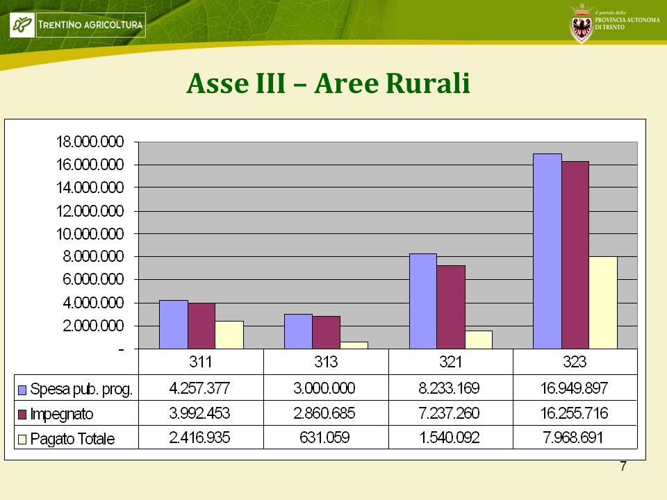 7 Asse III – Aree Rurali