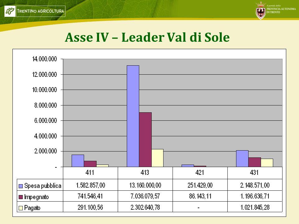 9 Asse IV – Leader Val di Sole
