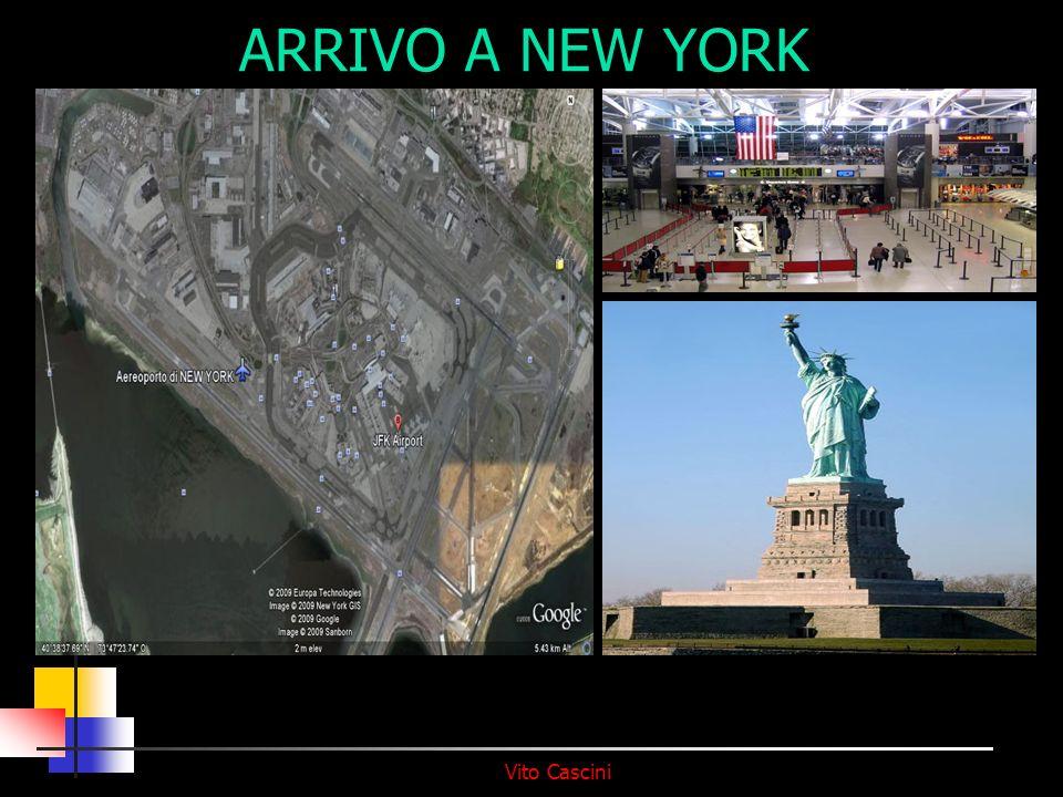 Vito Cascini ARRIVO A NEW YORK